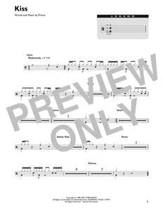 Kiss - Prince - Full Drum Transcription / Drum Sheet Music - SheetMusicDirect DT