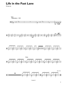 Life In The Fast Lane - Eagles - Full Drum Transcription / Drum Sheet Music - SheetMusicDirect DT427068