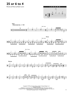 25 Or 6 To 4 - Chicago - Full Drum Transcription / Drum Sheet Music - SheetMusicDirect DT