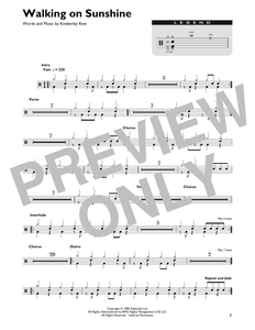 Walking on Sunshine - Katrina and the Waves - Full Drum Transcription / Drum Sheet Music - SheetMusicDirect DT