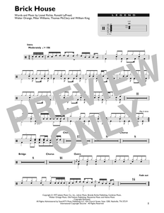 Brick House - Commodores - Full Drum Transcription / Drum Sheet Music - SheetMusicDirect DT422430