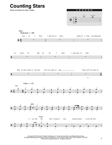Counting Stars - OneRepublic - Full Drum Transcription / Drum Sheet Music - SheetMusicDirect DT