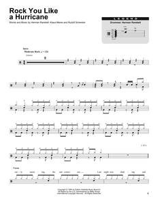 Rock You Like A Hurricane - Scorpions - Full Drum Transcription / Drum Sheet Music - SheetMusicDirect DT
