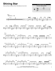 Shining Star - Earth, Wind & Fire - Full Drum Transcription / Drum Sheet Music - SheetMusicDirect DT