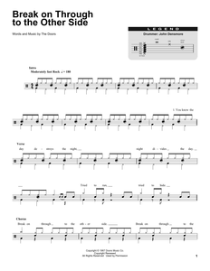 Break On Through To The Other Side - The Doors - Full Drum Transcription / Drum Sheet Music - SheetMusicDirect DT