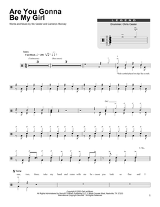Are You Gonna Be My Girl - Jet - Full Drum Transcription / Drum Sheet Music - SheetMusicDirect DT165368