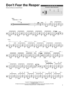 (Don't Fear) The Reaper - Blue Oyster Cult - Full Drum Transcription / Drum Sheet Music - SheetMusicDirect DT175028