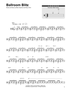 Ballroom Blitz - Sweet - Full Drum Transcription / Drum Sheet Music - SheetMusicDirect DT