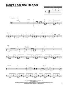 (Don't Fear) The Reaper - Blue Oyster Cult - Full Drum Transcription / Drum Sheet Music - SheetMusicDirect DT174271