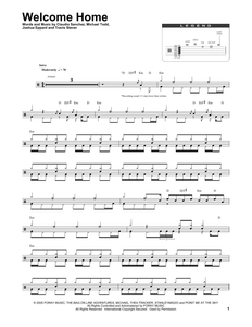 Welcome Home - Coheed And Cambria - Full Drum Transcription / Drum Sheet Music - SheetMusicDirect DT