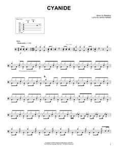Cyanide - Metallica - Full Drum Transcription / Drum Sheet Music - SheetMusicDirect DT