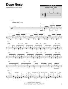 Dope Nose - Weezer - Full Drum Transcription / Drum Sheet Music - SheetMusicDirect DT