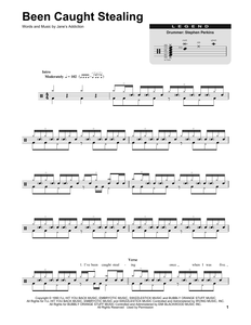 Been Caught Stealing - Jane's Addiction - Full Drum Transcription / Drum Sheet Music - SheetMusicDirect DT