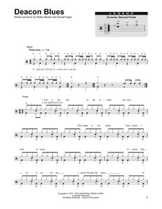 Deacon Blues - Steely Dan - Full Drum Transcription / Drum Sheet Music - SheetMusicDirect DT