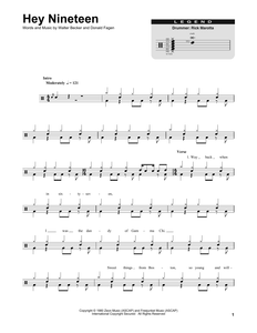 Hey Nineteen - Steely Dan - Full Drum Transcription / Drum Sheet Music - SheetMusicDirect DT