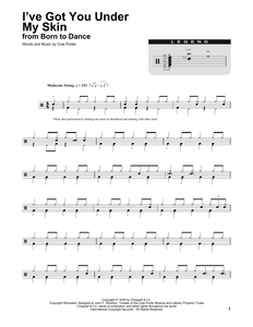 I've Got You Under My Skin (feat. Virginia Bruce) - Cole Porter - Full Drum Transcription / Drum Sheet Music - SheetMusicDirect DT