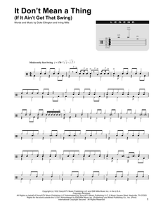 It Don't Mean A Thing (If It Ain't Got That Swing) - Duke Ellington - Full Drum Transcription / Drum Sheet Music - SheetMusicDirect DT