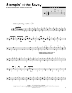 Stompin' At The Savoy - Benny Goodman - Full Drum Transcription / Drum Sheet Music - SheetMusicDirect DT