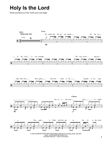 Holy Is The Lord - Chris Tomlin - Full Drum Transcription / Drum Sheet Music - SheetMusicDirect DT