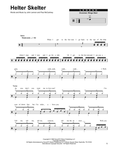Helter Skelter - The Beatles - Full Drum Transcription / Drum Sheet Music - SheetMusicDirect DT