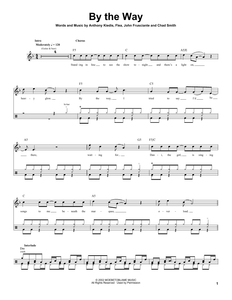 By The Way - Red Hot Chili Peppers - Full Drum Transcription / Drum Sheet Music - SheetMusicDirect DT174313