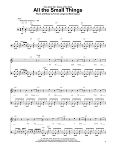 All The Small Things - blink-182 - Full Drum Transcription / Drum Sheet Music - SheetMusicDirect DT174330