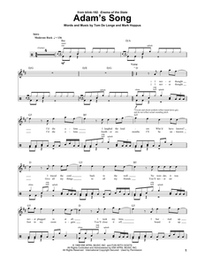 Adam's Song - blink-182 - Full Drum Transcription / Drum Sheet Music - SheetMusicDirect DT174329