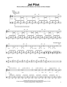 Jet Pilot - System of a Down - Full Drum Transcription / Drum Sheet Music - SheetMusicDirect DT