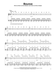 Bounce - System of a Down - Full Drum Transcription / Drum Sheet Music - SheetMusicDirect DT