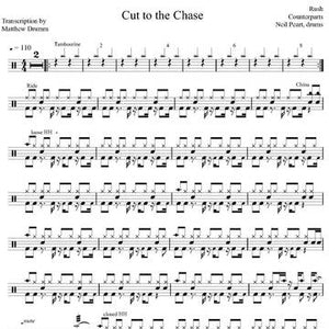 Cut to the Chase - Rush - Full Drum Transcription / Drum Sheet Music - Drumm Transcriptions