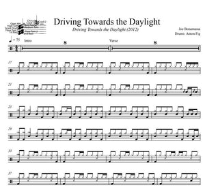 Driving Towards the Daylight - Joe Bonamassa - Full Drum Transcription / Drum Sheet Music - DrumSetSheetMusic.com