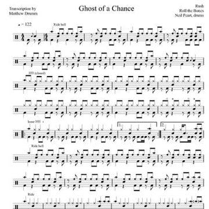 Ghost of a Chance - Rush - Full Drum Transcription / Drum Sheet Music - Drumm Transcriptions