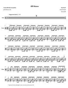 All I Know - Karnivool - Full Drum Transcription / Drum Sheet Music - Jaslow Drum Sheets