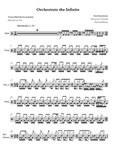 Orchestrate the Infinite - Scar Symmetry - Full Drum Transcription / Drum Sheet Music - Jaslow Drum Sheets
