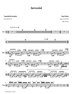 Surrounded - Dream Theater - Full Drum Transcription / Drum Sheet Music - Jaslow Drum Sheets