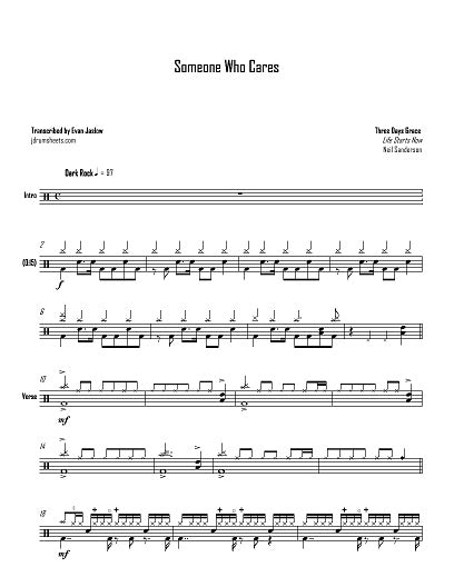Bully - Three Days Grace - Full Drum Transcription / Drum Sheet Music - Jaslow Drum Sheets