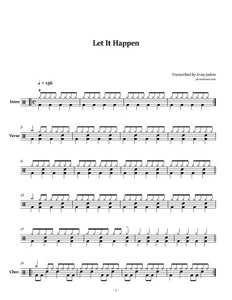 Let It Happen - Jimmy Eat World - Collection of Drum Transcriptions / Drum Sheet Music - Jaslow Drum Sheets