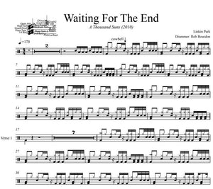 Waiting For The End - Linkin Park - Full Drum Transcription / Drum Sheet Music - DrumSetSheetMusic.com