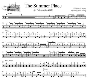 The Summer Place - Fountains of Wayne - Full Drum Transcription / Drum Sheet Music - DrumSetSheetMusic.com