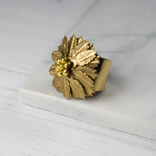 Artisan Flower Statement Ring