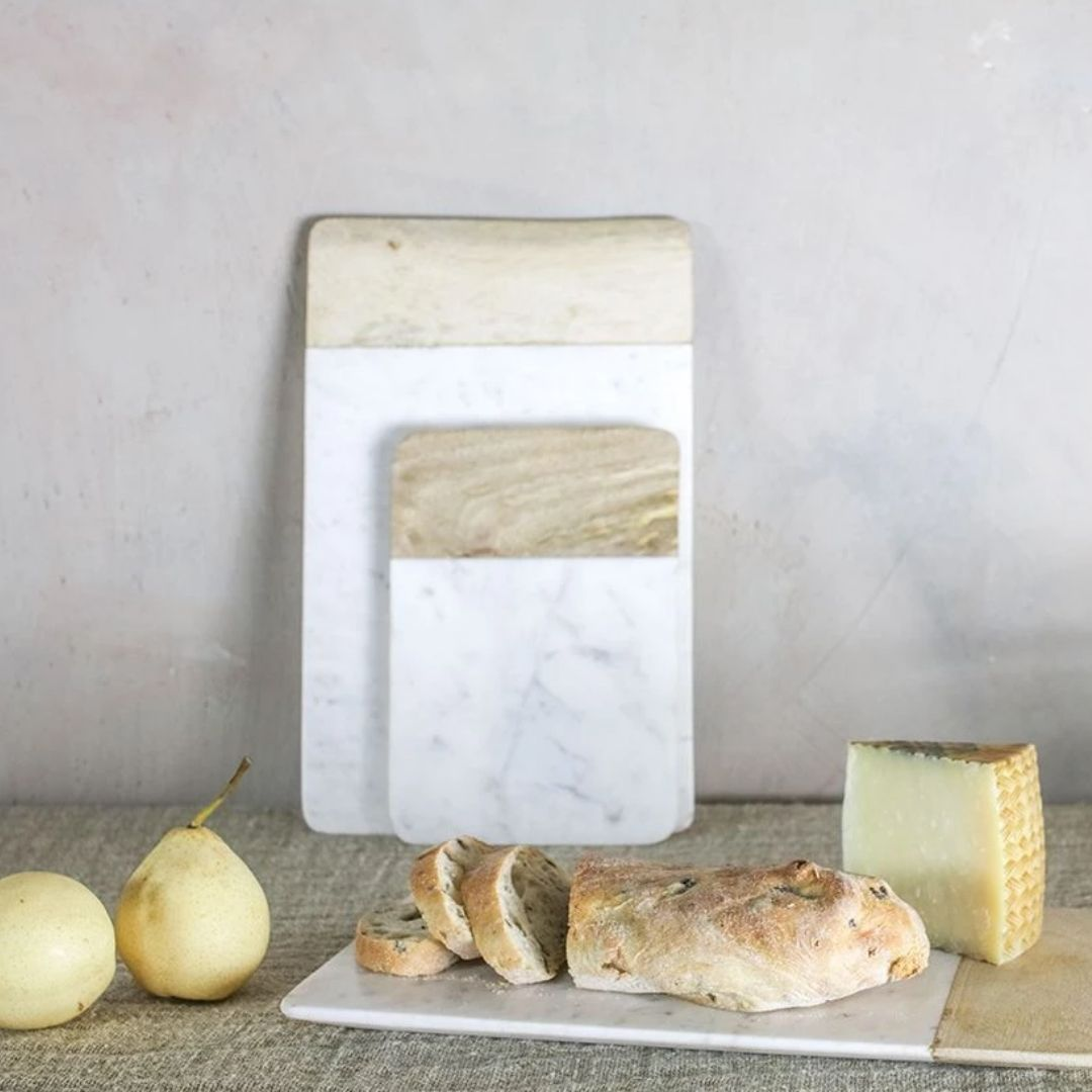 Nkuku Bwari Long Marble Board - White