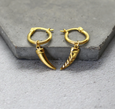 Gold Filled Horn Hoops -24ct