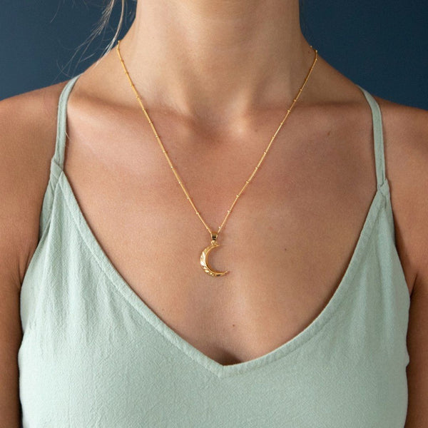 Gold Filled Moon Necklace - BACK IN STOCK SOON