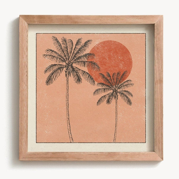 Golden Palms Print