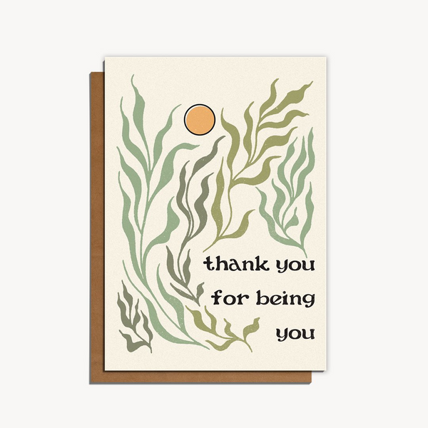 'Thank You for Being You' Card