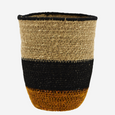Seagrass Basket - Orange and Black