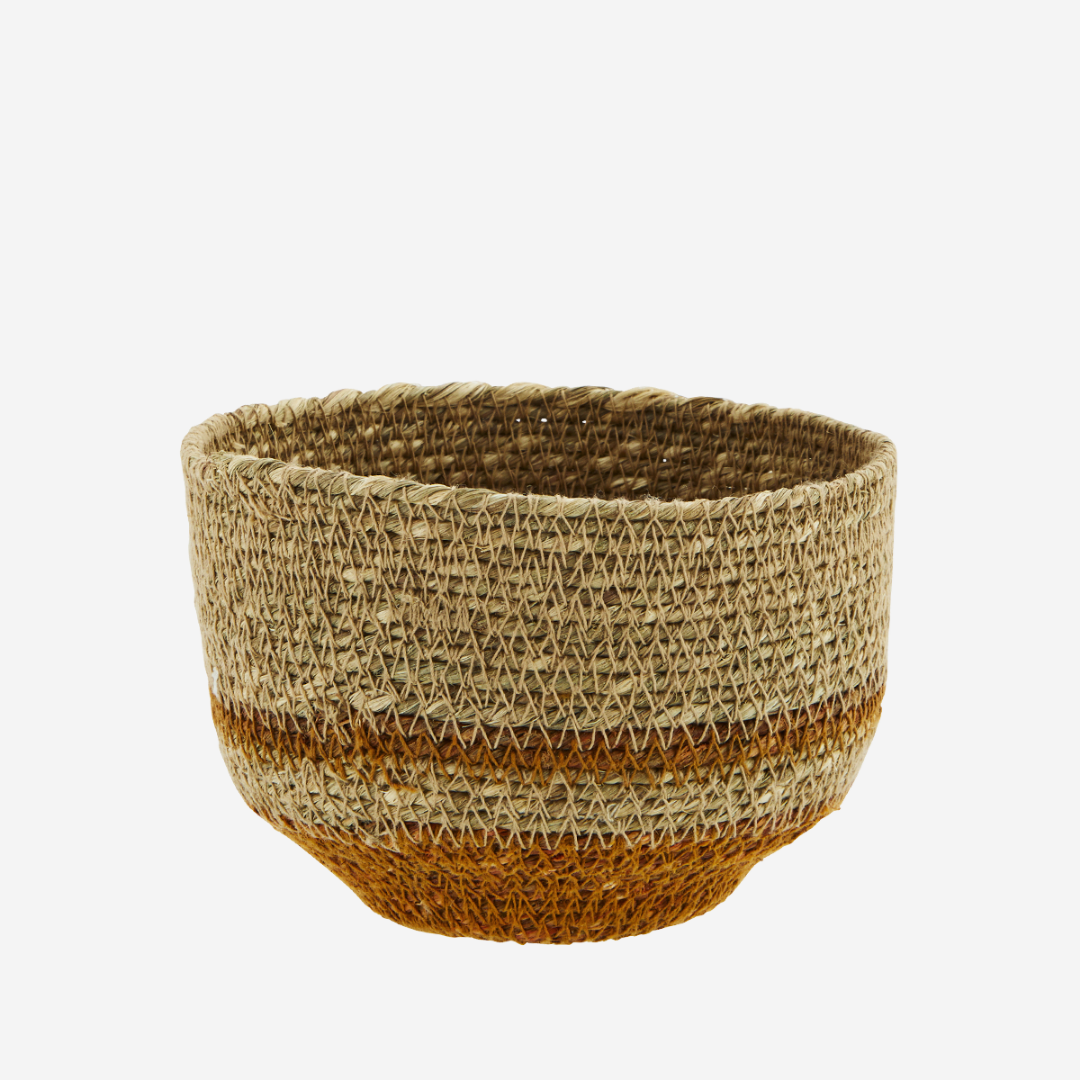Seagrass Basket - Orange.