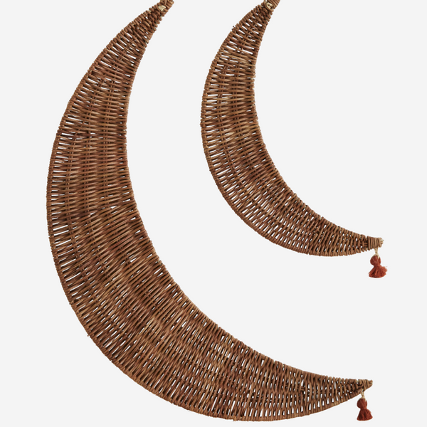 Rattan Hanging Moon Set