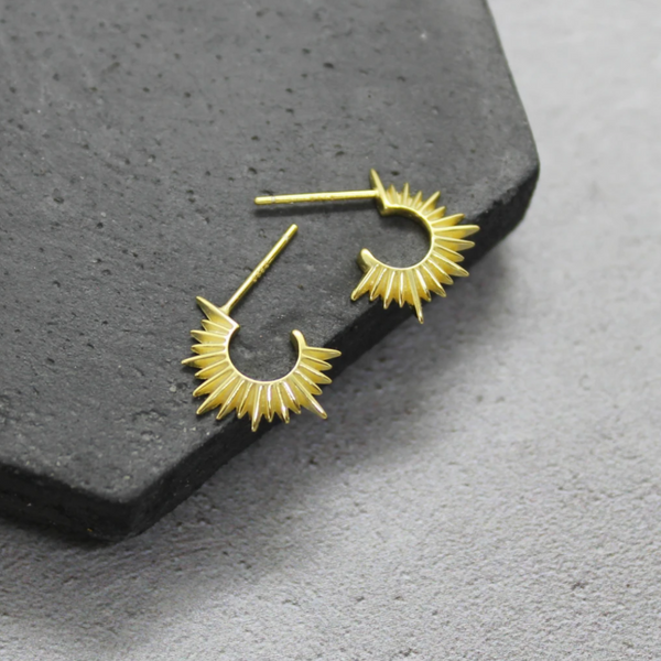 Gold Sunray Earrings