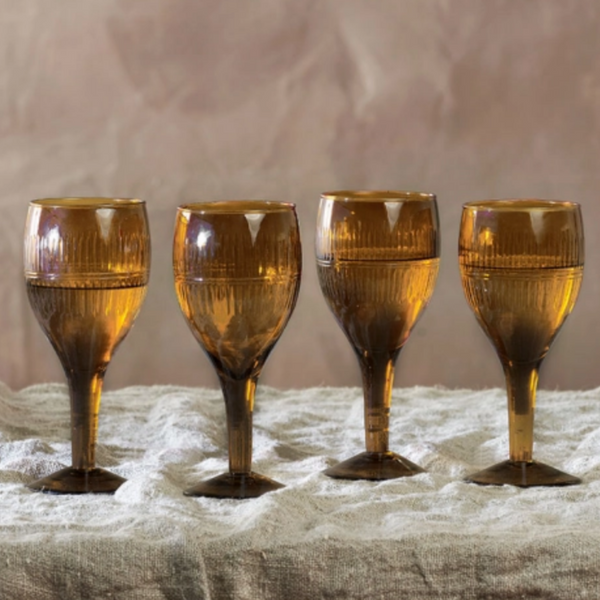 Mila Wine Glass - Burnt Amber - Set of Four